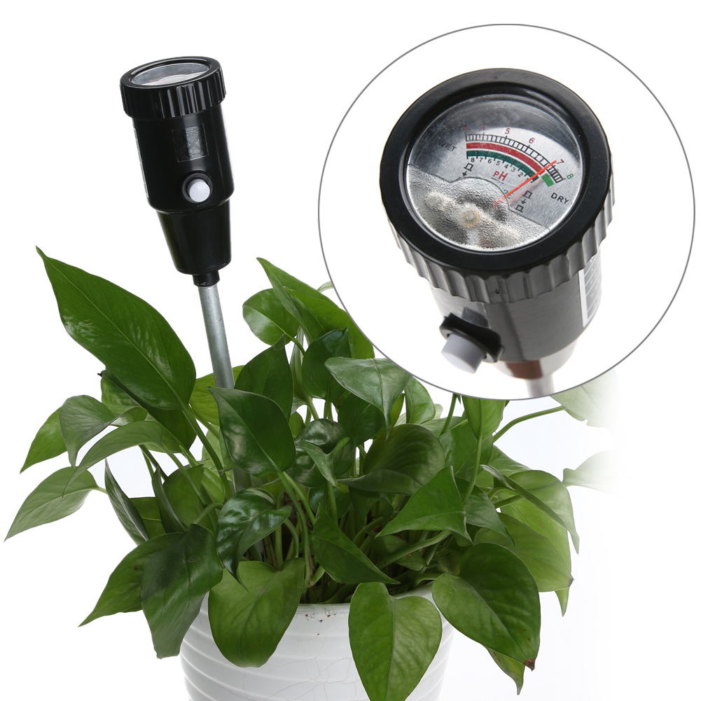 Portable Soil PH Meter 1-8% Plant PH 3-8 Level Moisture Tester For Garden Plant Flower Crop Vegetable Hydroponics Analyzer