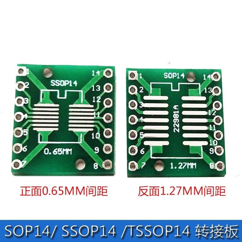 SOP14 Adapter Plate SSOP14 TSSOP14 Patch Adapter DIP 0 65 1 27mm Adapter Plate
