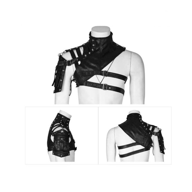 Leather Armor For Men And Women Shoulder Bag Accessories Show Locomotive Party Props 3