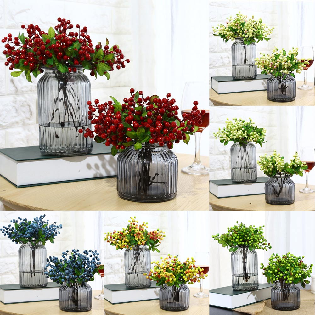 Artificial Simulation Berry Flower Plant Bouquet Home Wedding Party Decoration HG99