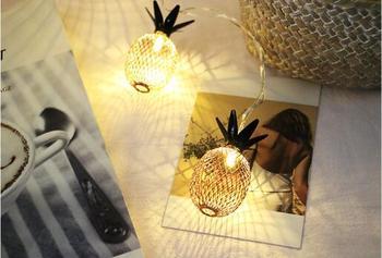 Metal Pineapple LED Battery String Light 3M 20Lights For Party Wedding Christmas Pineapple String Li