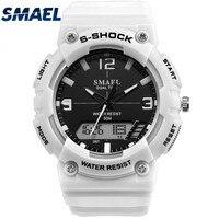 SMAEL S Shock Watches Men S Dual Display Sports Military Watch Men Analog Digital Quartz Wristwatch