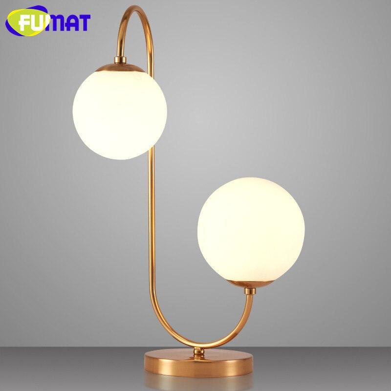 Nordic Post Lights & Lighting Desk Lamps Modern Minimalist Table Lamp Creative Bedroom Metal Glass Ball Decorative Lamp Art Study Light Free Shipping Professional Design