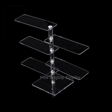 Acrylic 5 Tier Eyeglasses Sunglasses Stand Holder