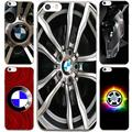 For IPhone7 7Plus 4 5S SE 6 6S Case For Fashion BMW Chrome Wheels Case Transparent Silicone soft slim Tpu Phone Cover