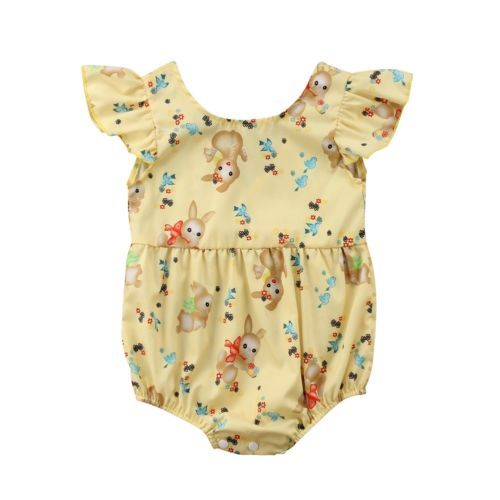 e02ddf231a15 Hot Cute Newborn Infant Baby Girl Rabbit Printed Romper One-Piece Jumpsuit  Outfits Summer Clothes Custome new