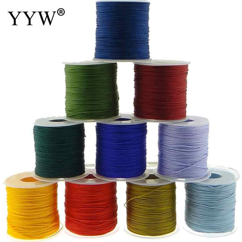 2017 1MM 100Yards/roll Macrame Rope Satin Rattail Nylon Cords/String Kumihimo Chinese Knot Cord DIY Bracelet Jewelry Findings