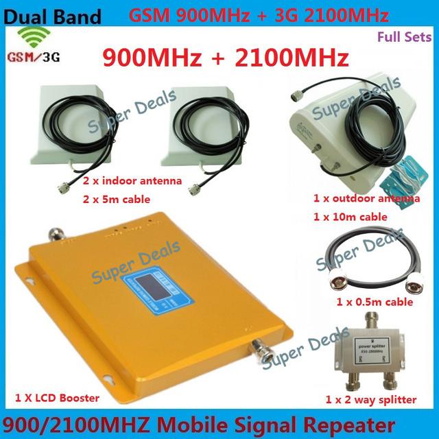 Display LCD GSM Reforço De Sinal 3G Amplificador de Banda Dupla 2G + 3G dupla Bar Faixa Expander impulsionador Repetidor de sinal de celular Para 2 quarto