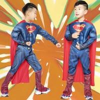 VASHEJIANG High Quality Children Superman Cosplay Clothing Muscle Super Hero Costumes Halloween Costume For Kids