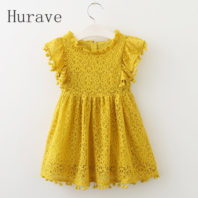 Hurave-2017-Summer-girls-dress-lace-dress-for-kids-clothes-fashion-tassel-dresses-princess-children-summer-vestidos-1
