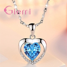 Top Quality 925 Sterling Silver Pendant Necklace For Women Girl Casual Anniversa