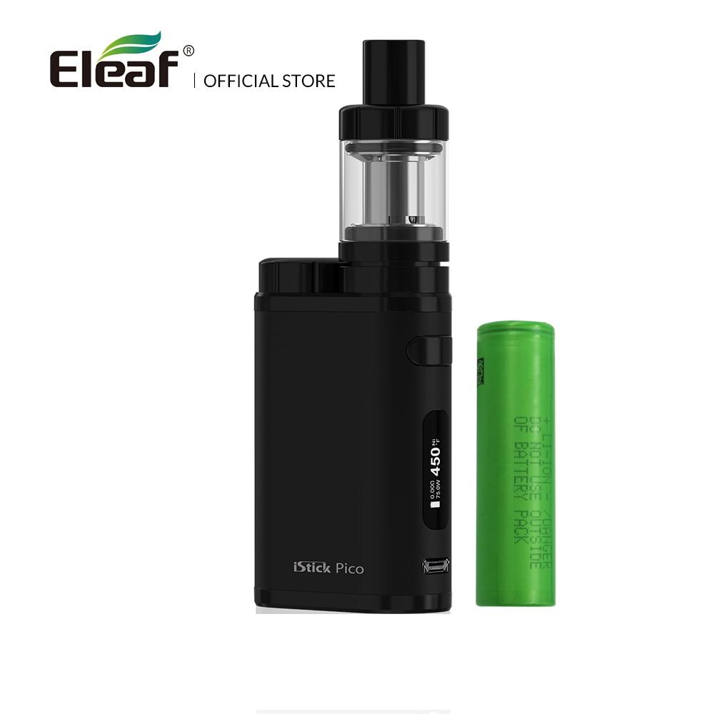 Kit d'origine Eleaf iStick Pico avec Mini atomiseur MELO III avec batterie 18650 1-75 W 2 ml melo 3 cigarette électronique