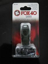 50pcs/lot Colorful Fox 40 SHARX Whistle With lanyard In Black Blister Packing