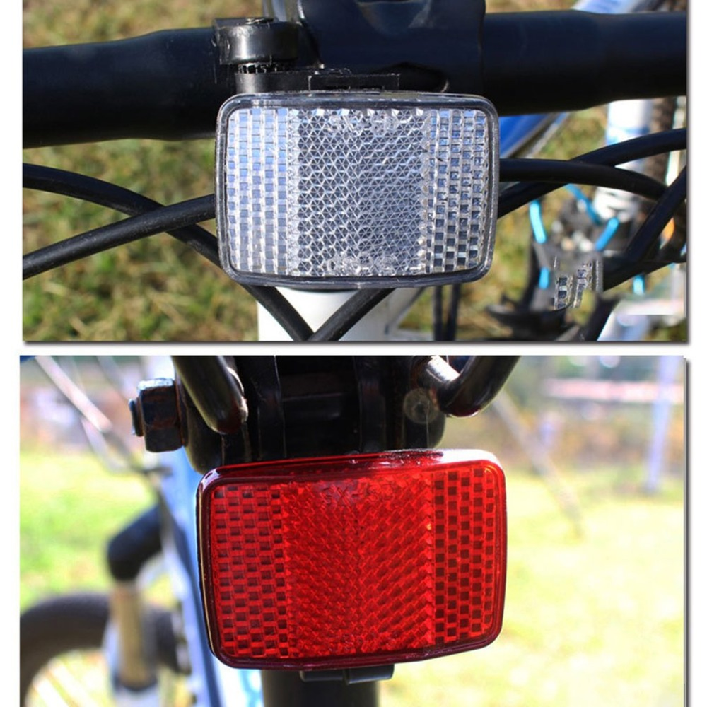 1 Pcs Bicycle Front Rear Reflective Lens MTB Road Bike Automatic Reflectors Cycling Warning Light Cycling Safety Accessories