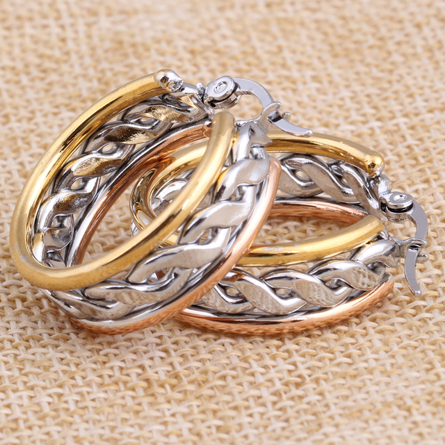 Fashion Hoop Earring Jewelry Stainless