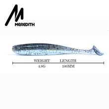 Meredith Easy Shiner Soft Lures 10cm /4.8g 7pcs/lot Swimbaits Artificial Bait Double color Carp Fishing Tackle Fishing Lures