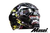 Личный мотоциклетный шлем Настоящий мужской Железный 610 человек ретро высококачественный внедорожный мотоцикл Призрак черный и желтый