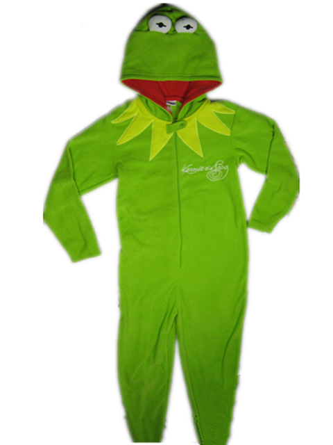 640e91f1ff2a Children Sesame Street Kermit Onesies animal Kermit jumpsuit Fleece ...