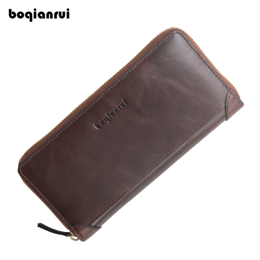 New Wallet Genuine Leather Men Wallets Long Coin Purse Big Vintage Wallet Cowhide Leather Card Holder Pocket Purse Men Wallets 2017 new wallet small coin purse short men wallets genuine leather men purse wallet brand purse vintage men leather wallet page 1