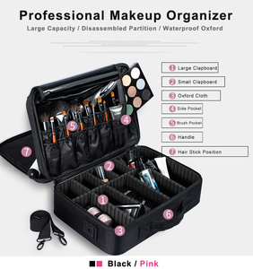 Image 2 - High Quality Make Up Bag Professional Makeup Case Makeup Organizer Bolso Mujer Cosmetic Case Large Capacity Storage Bag