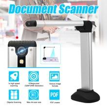 A4 Документ камера сканер портативный высокоскоростной USB книга изображение с 8.0MP камера Школа Офис библиотеки банк HD высокой четкости