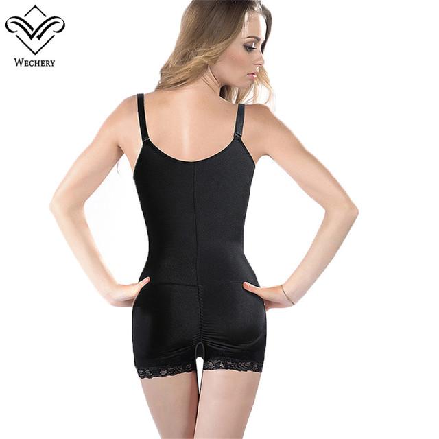 Wechery Body Shaper Bodysuits Women Lace Waist Trainer Latex Shapewears Corset Sexy Slimming Underwear Sheath Modeling Strap