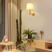 TRAZOS Nordic bedroom wall lamp applique murale wall lamp sconces with fabric lampshade E27 home lighting