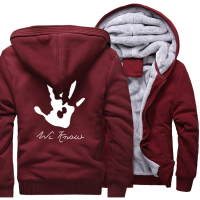2017 Hot Sale Men's Hoodies Print Skyrim Dark Brotherhood Hand Fashion Sweatshirts Men Winter Fleece Thick Hoody Harajuku Kpop