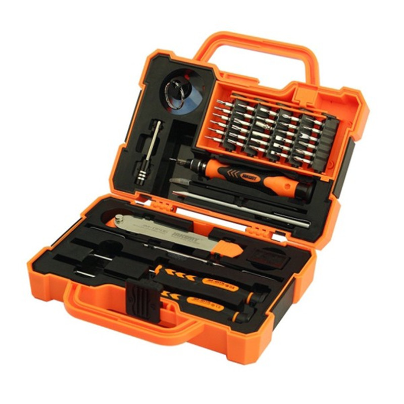 JAKEMY JM-8139 45 in1 Multi Bit Screwdriver Kit with Spudger Tweezers for Electronics Repair ladylike short capless fluffy curly fashion side bang human hair wig for women