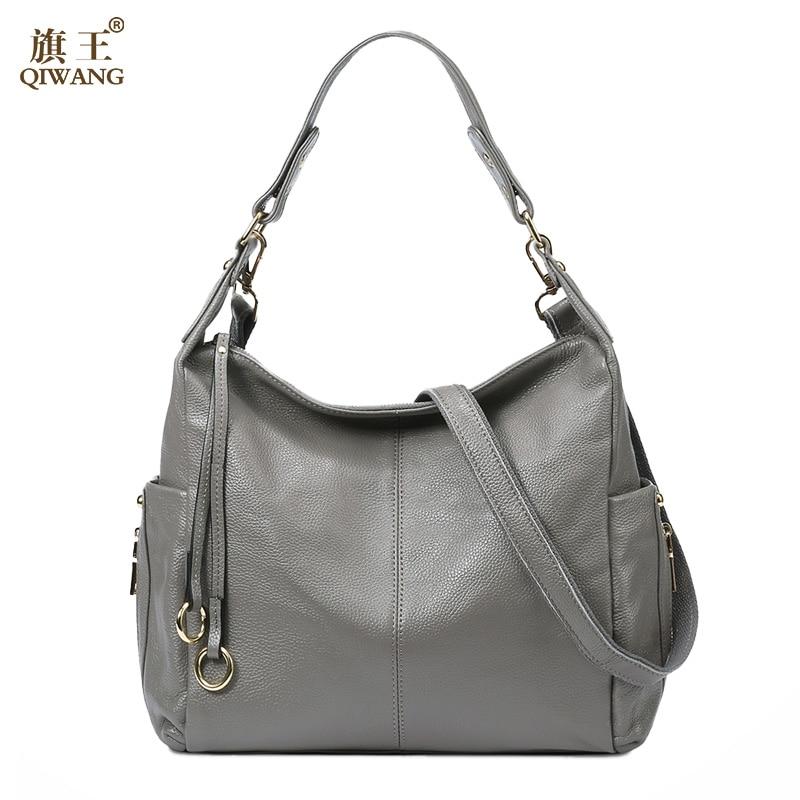 US $57.57 50% OFF|QIWANG 100% Grey Genuine