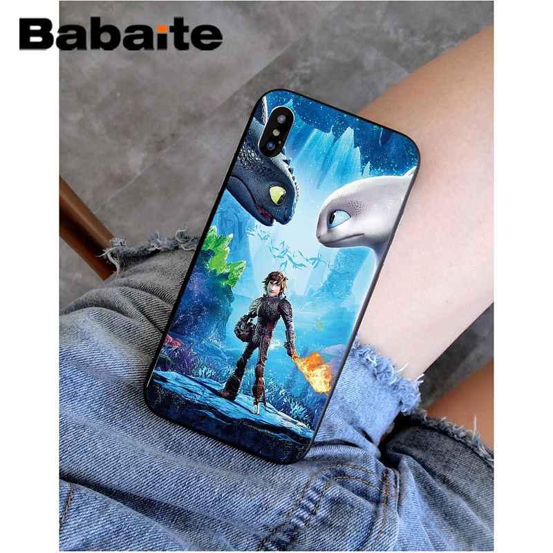 Babaite sin dientes cómo entrenar a tu dragón funda de teléfono suave negra para iPhone 5 5Sx 6 7 7 8 8 plus X XS X MAX XR