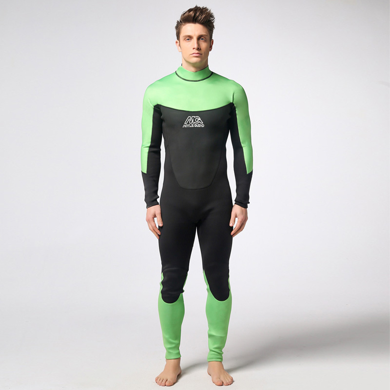 Spearfishing Piece Wetsuit thickened 3MM Neoprene Scuba Diving Suit Surfing Wetsuits winter swimming Triathlon Anti-UV clothing spearfishing wetsuit 3mm neoprene scuba diving suit snorkeling suit triathlon waterproof keep warm anti uv fishing surf wetsuits