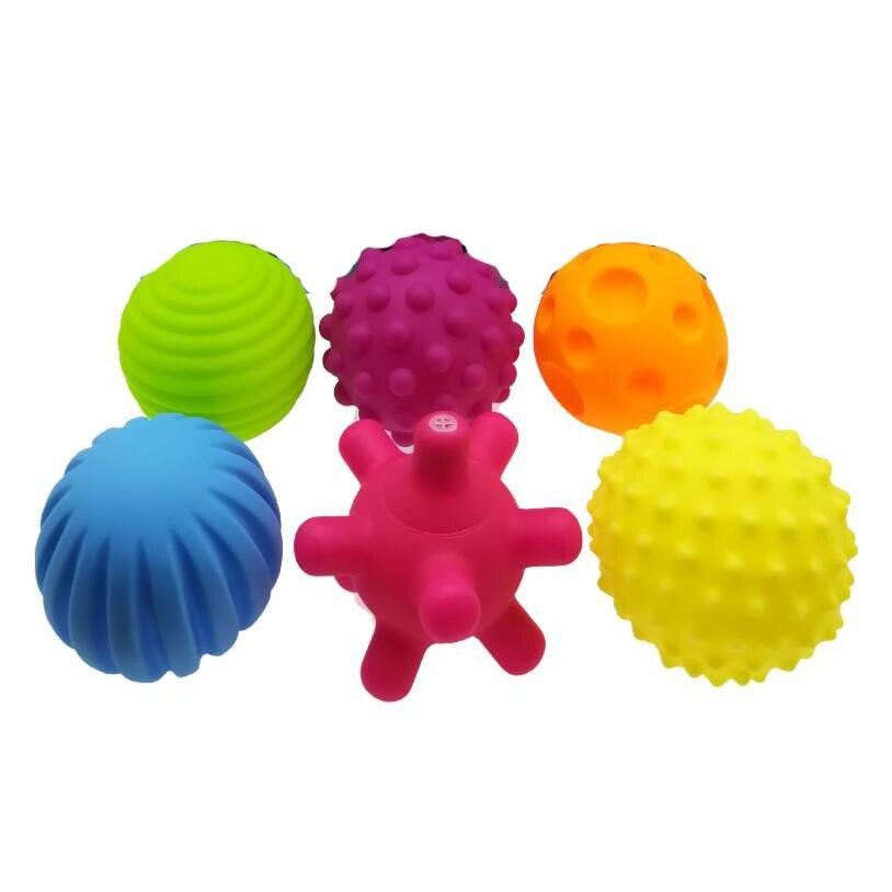 6 шт./компл. детские игрушки мяч набор развивают тактильные ощущения игрушка сенсорный игрушки, ручной мяч детские тренировочный мяч с массажным эффектом; мягкая мяч LA894335 4