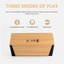 Portable Wireless Bluetooth 4.2 Stereo Speaker with FM Radio Digital Alarm Clock