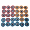 Mayitr 30pcs Roloc Roll Lock Sanding Disc Surface Conditioning Fine Medium Coarse 2 50mm For Stainless