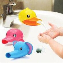 2 Stücke Cartoon Wasserhahn Extender Für Kind Kinder Kid Hand Waschen In  Waschbecken Elefanten Delphin Ente