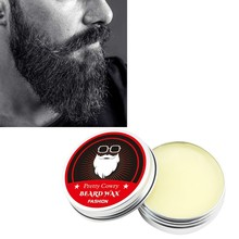 Red/Yellow Men Beard Oil Balm Moustache Wax for styling Beeswax Moisturizing Smo