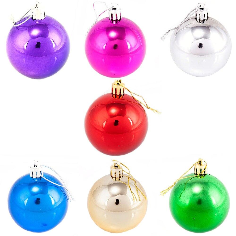6 Christmas Ornaments Part - 16: New Year 6 Cm 4 Color 6 Pcs/lot Christmas Tree Ornament Light Christmas  Balls For Christmas Decoration Supplies VBA09 T50