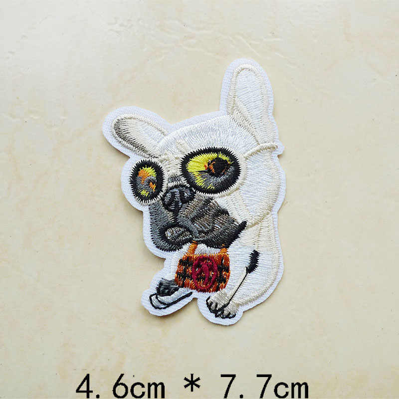 1 Uds. Parches 3D con diseño de gato, pez, pájaro, Animal, Iron On, bordados para ropa, vaqueros, apliques para coser en la prenda, pegatinas, insignias