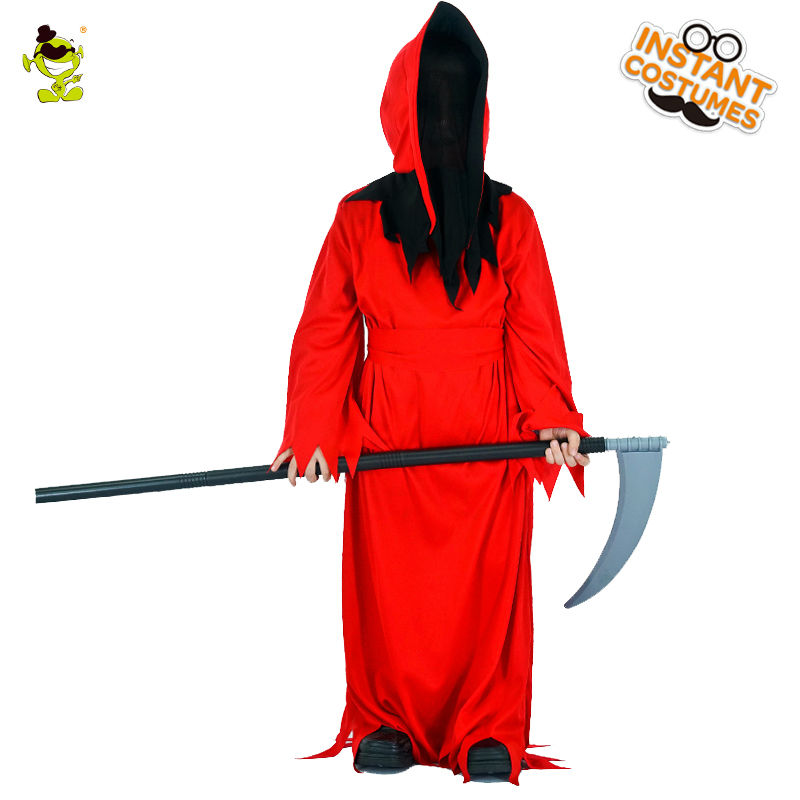 Boys Scary Bloody Red Devil Costumes Halloween Masquerade Party Cosplay Fancy Dress Kids Horror Clothing For Carnival Party