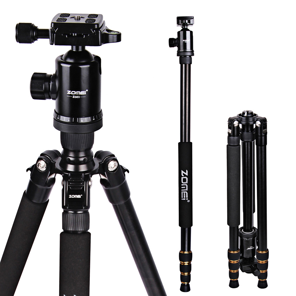 Zomei Z688 ProfessionalPortable Aluminum tripod Monopod flexible tripod Ball Head For DSLR SLR Camera