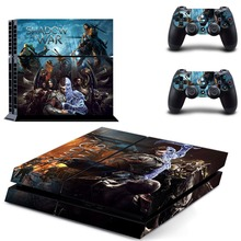 Middle Earth Shadow of War Injustic 2 PS4 Skin Sticker Decal Vinyl for Playstation 4 Console and 2 Controllers PS4 Skin Stickers