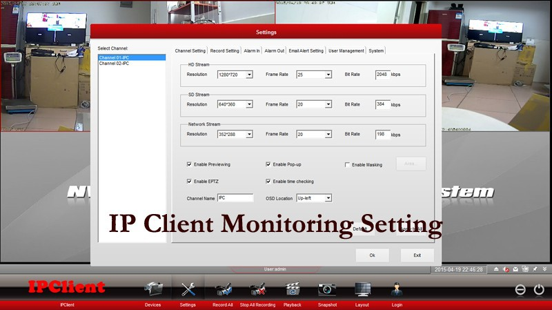IP Client settings