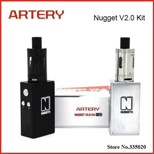 Original Artery Nugget V2.0 Kit 50W Nugget V2 TC Mod 1500mah Battery Capacity with 2ml Top Refilling Trace Tank