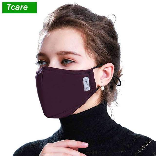 1ffc5c206 Cotton PM2.5 Black mouth Mask anti dust mask Activated carbon filter  Windproof Mouth