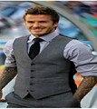 Hot sale 2015 new fashion (Beckham mesmo parágrafo colete), personalidade qualidade Fino Coreano homens colete homens colete