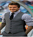 Hot sale 2015 new fashion (Beckham same paragraph vest), personality Slim quality Korean men vest waistcoat men