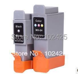 6Pk For Canon BCI 24 BCI-24 Black & Color Ink Cartridge for Canon I250 I320 I350 I450 I470 I455 I475 IP1000 IP1500 MP110 MP130