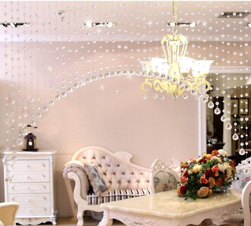1 Luxury Glass Beads Door String Tassel Curtain Wedding Divider ...