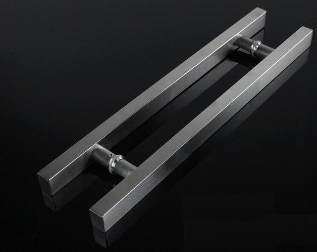 UNILOCKS 1 Pair Glass Door Handle Stainless Steel Square Tube Drawing Tube Handle  Door Handle